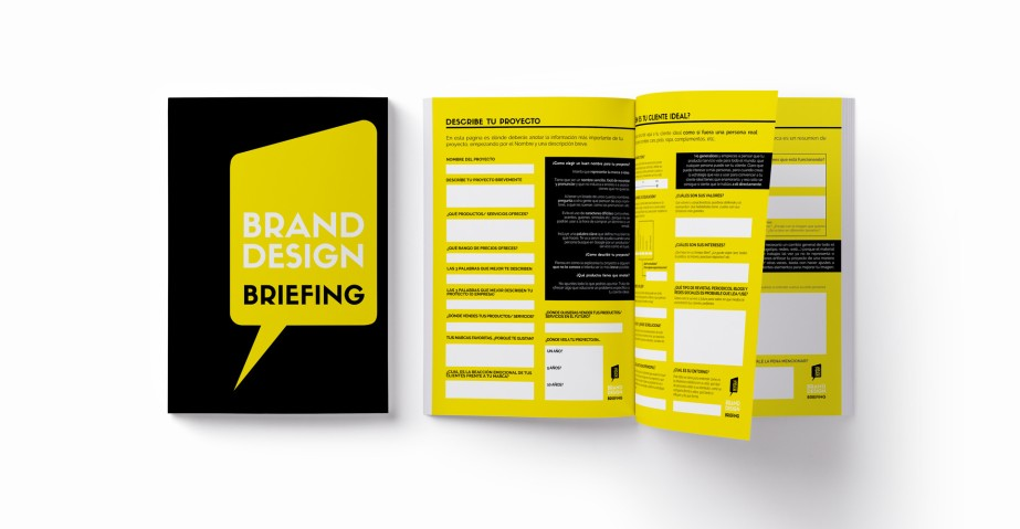 YELLOW STUDIO BRIEF MOCKUP
