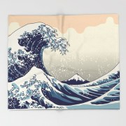 digital-copy-of-the-great-wave-throw-blankets